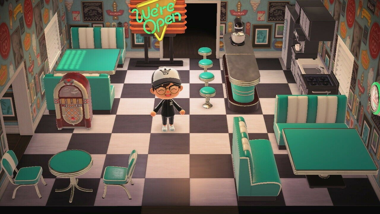 Animal Crossing New Horizons Complete Turquoise Diner Set Store Nook Stop Shop